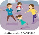 stickman illustration of a... | Shutterstock .eps vector #566638342