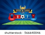 vector of soccer league with... | Shutterstock .eps vector #566640046