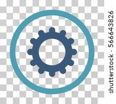 gear rounded icon. vector... | Shutterstock .eps vector #566643826