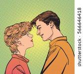 Lovers Couple Kissing  Romanti...