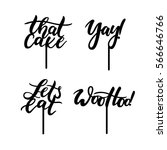 cake toppers. cute calligraphic ... | Shutterstock .eps vector #566646766