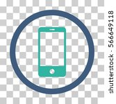 smartphone rounded icon. vector ... | Shutterstock .eps vector #566649118