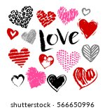 vector hand drawn collection of ... | Shutterstock .eps vector #566650996