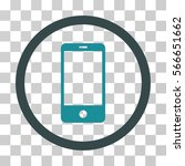 smartphone rounded icon. vector ...   Shutterstock .eps vector #566651662