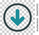 arrow down rounded icon. vector ... | Shutterstock .eps vector #566653432