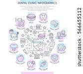 dental clinic infographics in... | Shutterstock .eps vector #566655112