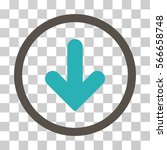 arrow down rounded icon. vector ... | Shutterstock .eps vector #566658748
