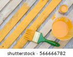 wood painting  furniture... | Shutterstock . vector #566666782