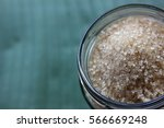 organic sugar in the bottle on... | Shutterstock . vector #566669248