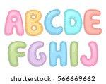 alphabet part1 | Shutterstock .eps vector #566669662