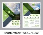 greenery brochure layout design ... | Shutterstock .eps vector #566671852