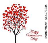 valentine tree  love  leaf from ... | Shutterstock .eps vector #566678335