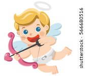 valentine's day illustration of ... | Shutterstock .eps vector #566680516