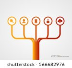 connecting  integrating modern... | Shutterstock .eps vector #566682976