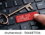 closed up finger on keyboard... | Shutterstock . vector #566687536