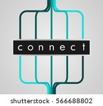 connect   graphic element ...   Shutterstock .eps vector #566688802
