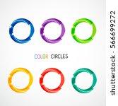color circles set | Shutterstock .eps vector #566699272