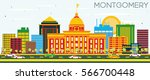 montgomery skyline with color... | Shutterstock .eps vector #566700448
