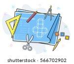 product prototype vector... | Shutterstock .eps vector #566702902