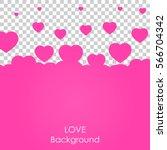 flying heart background. love... | Shutterstock .eps vector #566704342