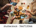 friends taking a picture of... | Shutterstock . vector #566713366