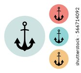 anchor icon isolated vector...