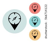 compass icon isolated vector...