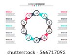business data visualization.... | Shutterstock .eps vector #566717092