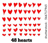 hearts  vector set | Shutterstock .eps vector #566717965