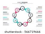 business data visualization.... | Shutterstock .eps vector #566719666