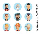 isolated professions avatar... | Shutterstock . vector #566727382