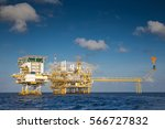 offshore oil and gas platform...   Shutterstock . vector #566727832