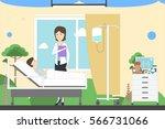 children ward in hospital....   Shutterstock .eps vector #566731066