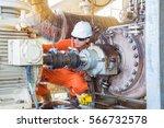 offshore oil rig worker ... | Shutterstock . vector #566732578