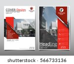 red flyer cover business... | Shutterstock .eps vector #566733136