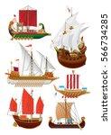 vector illustration set of... | Shutterstock .eps vector #566734285