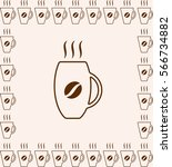 coffee cup icon isolated on... | Shutterstock .eps vector #566734882