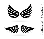 angel wings vector icon set on... | Shutterstock .eps vector #566737642