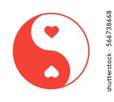 yin yang with hearts color icon.... | Shutterstock .eps vector #566738668