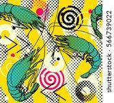 shrimps. seamless pattern...   Shutterstock .eps vector #566739022