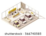 vector isometric low poly car... | Shutterstock .eps vector #566740585