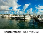 Boats Docked In A Coconut Grov...
