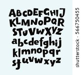 handwritten bold trendy vector... | Shutterstock .eps vector #566750455