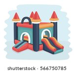 vector cartoon illustration of... | Shutterstock .eps vector #566750785