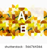 abstract circle geometric...   Shutterstock .eps vector #566764366
