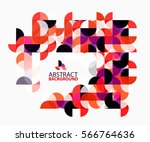abstract circle geometric... | Shutterstock .eps vector #566764636