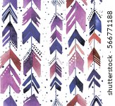 seamless pattern with arrows.... | Shutterstock .eps vector #566771188