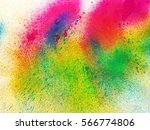 abstract colorful splashes. ... | Shutterstock . vector #566774806