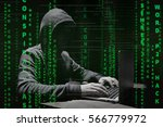 hacker at work with graphic... | Shutterstock . vector #566779972