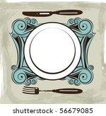 vintage menu background | Shutterstock .eps vector #56679085